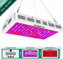1500w LED Grow Light with Bloom and Veg Switch, (15W LED) Triple-Chips LED Plant