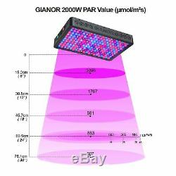 2000W Full Spectrum Hydro Led Grow Light Kits Plant Lamp with VEG Bloom Switch