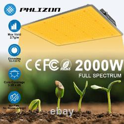 2000W Samsung LM301B LED Grow Light Dimmable Sunlike Full Spectrum for Greehouse