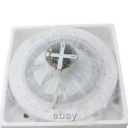 21.6''Modern Acrylic Ceiling Fan Remote WithLED Light kit &3 Wind Speed Adjustable