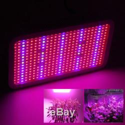 2X 600W LED Grow Light Full Spectrum For Indoor Hydro Veg Flower Panel Lamp USA