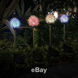 4 / 2PCS LED Solar Powered Garden Stake Lights For Patio Backyard Lamp Home