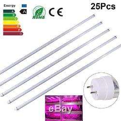 5/25PcsX120CM 60W T8 Full Spectrum LED Plant Grow Fluorescent Tube Light Flower