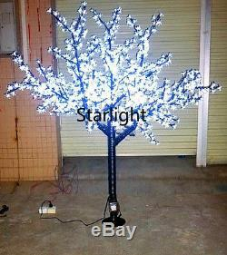 6.5ft Outdoor LED Christmas Light Cherry Blossom Tree Holiday Home Decor White