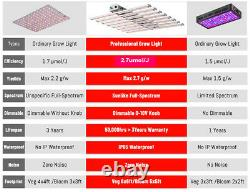 800W Dimmable LED Grow Light Kits Spider Samsung Quantum Board 10bars 660nm Lamp