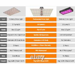 800W Quantum Lamp Grow Light Samsung LED 561C Replace Fluence 1700E SPYDR Herbs