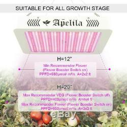 Apelila 8000W LED Grow Light Full Spectrum UV IR Bloom Switch for Indoor Plants