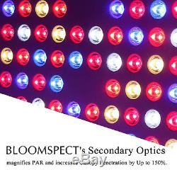 BLOOMSPECT 4PCS 600W LED Grow Light Full Spectrum Panel for Plants Veg Flowering