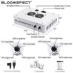 BLOOMSPECT Dimmable Series 1000W LED Grow Light Full Spectrum for Indoor Plants