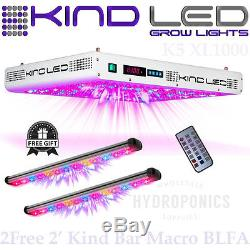 Kind LED Grow Lights K5 XL1000 with (2) FREE 2' Kind LED Bar Light FLOWER MACRO