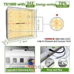 Mars Hydro TS 1000W LED Grow Light+2'x2' Indoor Tent Complete Kits Carbon Filter
