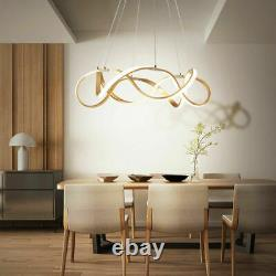 Modern Twist Ring Acrylic LED Chandelier Dimmable Ceiling Pendant Light Fixtures