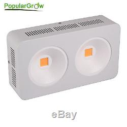 PopularGrow 400W LED Grow Light COB Integrated Chips 9 Bands Plant Growth Flower