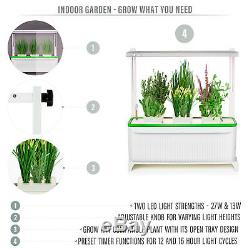 Prosumer's Choice Indoor Herb Garden with LED Grow Light for Flowers and Veggies