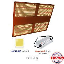 QUANTUM Grow Light 500w V3 Samsung LM301H 3.5k+ 660nm with Meanwell HLG 480 driver