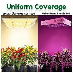 Spider Farmer Newest Dimmable LED Grow Light SF-1000 Grow Lights with Samsung