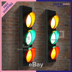 Traffic Light TELESCOPING BISTRO Floor Lamp Vintage French LED Lamp Hall Night